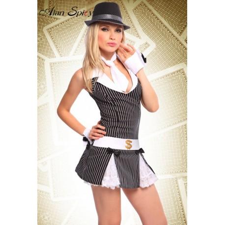 81136- Sexy costume da giocatore d'azzardo