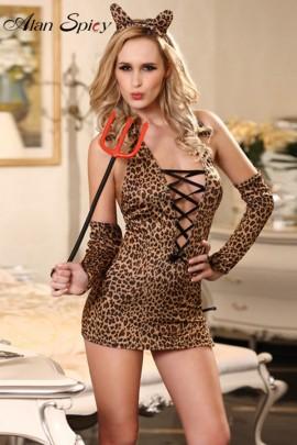 81217- Sexy costume lepardato