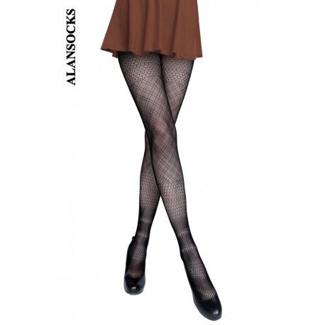 DF1204- Fishnet tights with patterns
