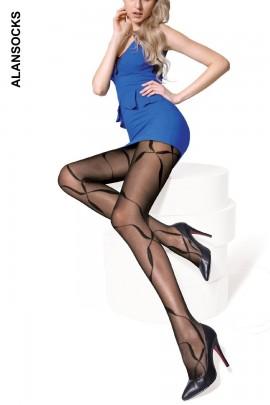 M0256- Collant moda con fantasie 40D