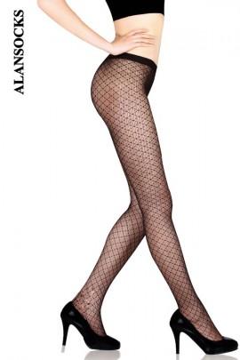 YD043- 网格提花连裤网袜