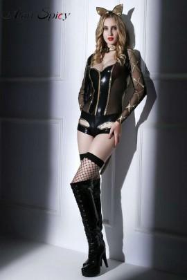 6023- Costume sexy da catwoman