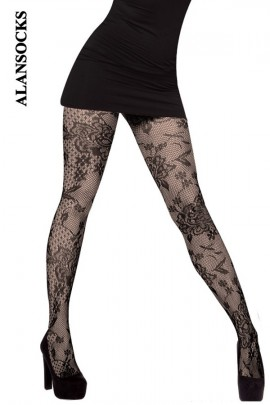 SP022- Fishnet tights with patterns