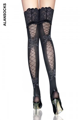 2076- Fashion stockings with patterns
