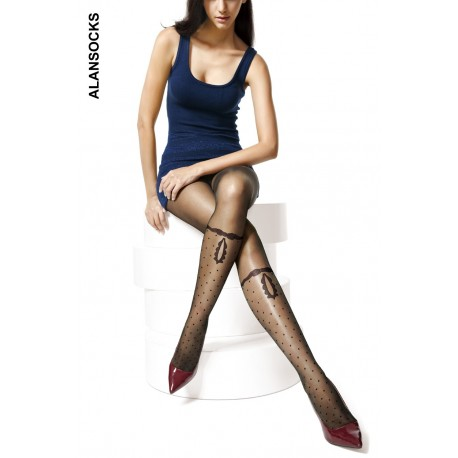 A6093- Fashion tights with patterns and polkadot 20 den