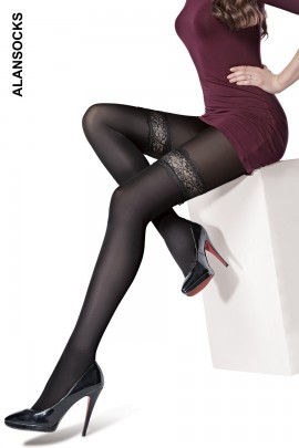 A6257- Fashion tights with patterns 20 den