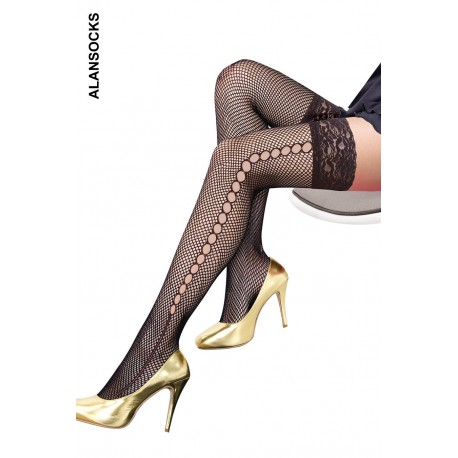 HD904- Fishnet stockings with patterns