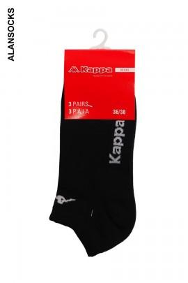 K006- 3 paia (1 confezione) di Calza corte KAPPA