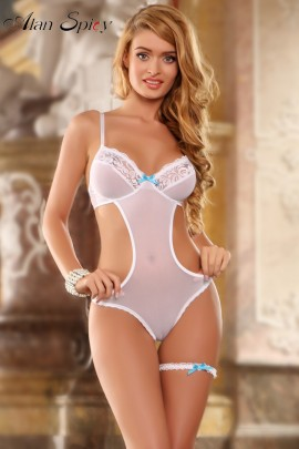 40002- Body sexy in pizzo floreale