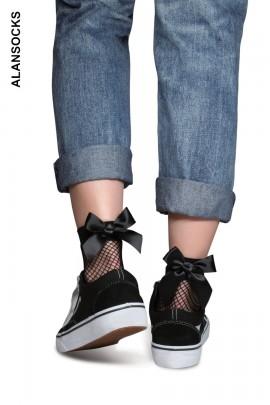 HD218- Calze sopra la caviglia in tessuto a rete grossa