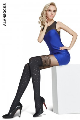 A6273- Fashion tights with patterns 80 den