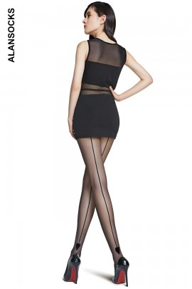 A4197- Fashion tights with a back line 20 den