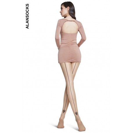 A4198- Fashion tights with a back line 20 den
