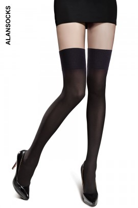 D3503- Parisian socks in microfibre, above the knee