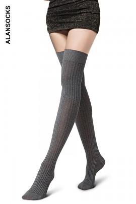 D5833- Calze parigine in cotone sopra il ginocchio