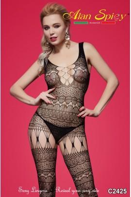 C2425- Lingerie sexy: Bodystocking in maglia a rete