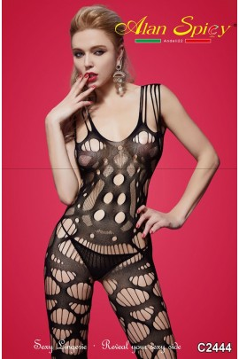 C2444- Sexy Lingerie: Bodystocking in mesh knit