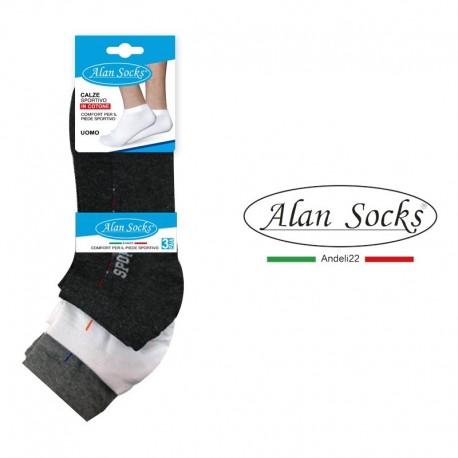 T144- Tennis short cotton socks mixed 3 pairs