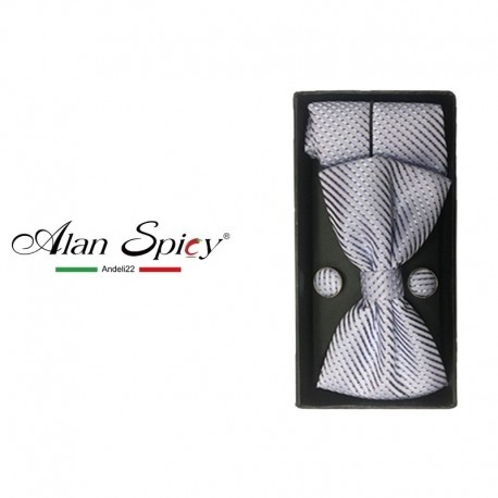 YL1239- Matched bow tie set with clutch and twin buttons