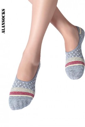 H114- Sport Footsies socks in coton with silicone