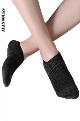 H117- Chaussettes unisexe de sport en coton avec silicone