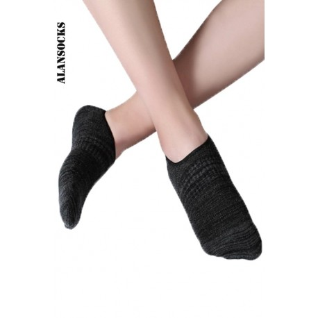 H117- Footsies socks, unisex, for sport in cotton with silicone