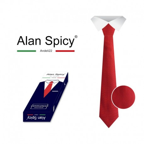 YL1901- ALAN SPICY - Classic Men's tie with a Solid Color (12 Pieces)