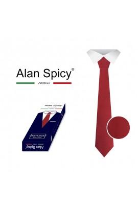 YL1902- ALAN SPICY - Cravatta da uomo Classica Tinta Unita (12 Pezzi)