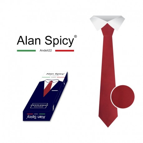 YL1902- ALAN SPICY - Classic Men's Solid Color Tie (12 Pieces)
