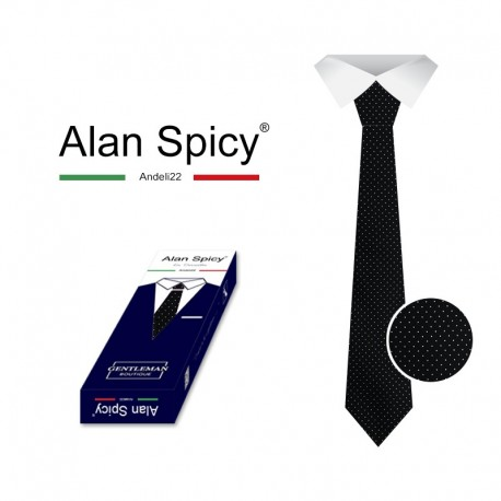 YL1903- ALAN SPICY - Classic Men's Solid Color Tie (12 Pieces)
