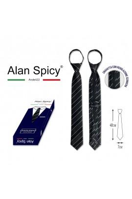 YL1907- ALAN SPICY - Cravatta da uomo Classica Tinta Unita (12 Pezzi)