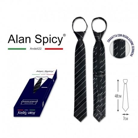 YL1907- ALAN SPICY - Cravate unie classique pour hommes (12 pièces)