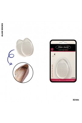 XD306- Transparent lunar insoles, in gel, for shoes.