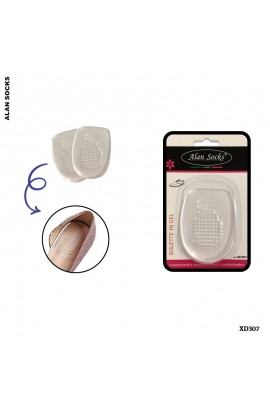 XD307- Transparent lunar insoles, in gel, for shoes.