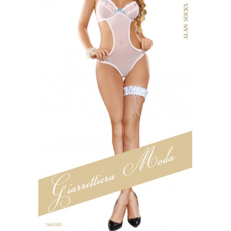TH6502- Embroidered lace garter