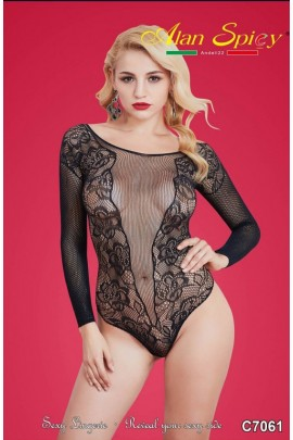 C7061- Sexy Lingerie: Bodystocking in mesh knit C