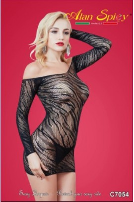 C7054- Sexy Lingerie: Bodystocking in mesh knit