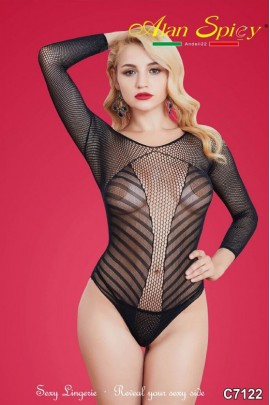 C7122- Sexy Lingerie: Bodystocking in mesh knit