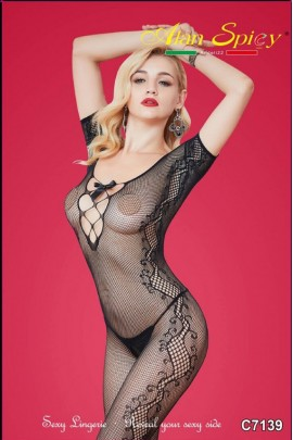 C7139- Sexy Lingerie: Bodystocking in mesh knit