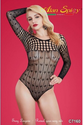 C7160- Sexy Lingerie: Bodystocking in mesh knit