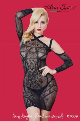 C7009- Sexy Lingerie: Bodystocking in mesh knit
