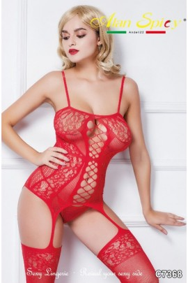 C7368- Sexy Lingerie: Bodystocking in mesh knit