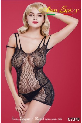 C7375- Sexy Lingerie: Bodystocking in mesh knit