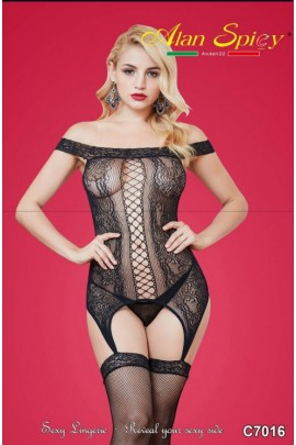 C7016- Sexy Lingerie: Bodystocking in mesh knit