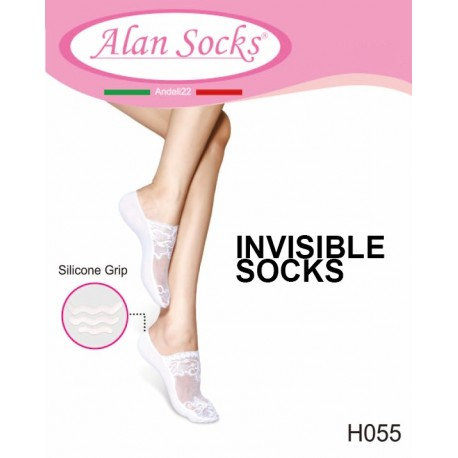 H055- Footsavers anti-slip in lace