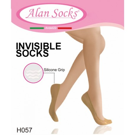 H057- Nylon non-slip footies with silicone
