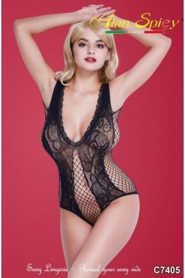 C7405- Lingerie sexy: Bodystocking in maglia a rete