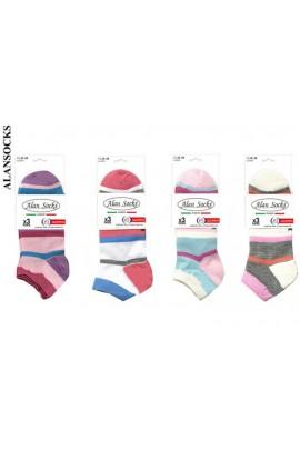 T130- 6 modelli Calze moda da tennis corte di cotone