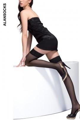 A7703- 经典简约长筒袜/大腿袜 40D